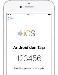 Android cihazdan iphone