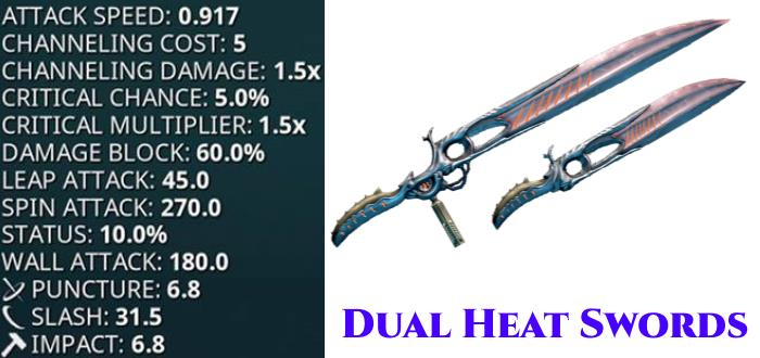 dual heat swords stats