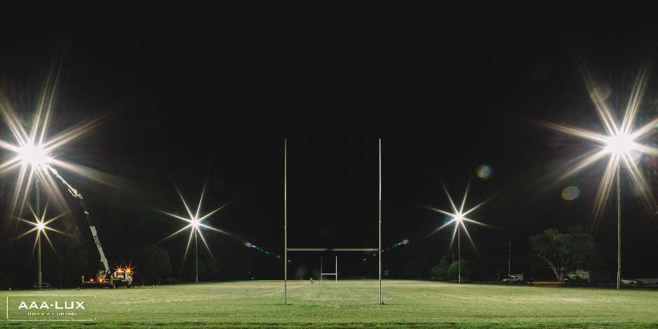 Eclairage LED terrain de Rugby