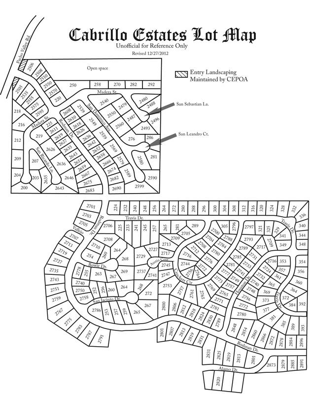 Cabrillo Estates Map