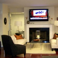 Living Room Design Ideas Tv Over Fireplace Shelving For 3 Myths About Mounting Tvs Fireplaces Ce Pro