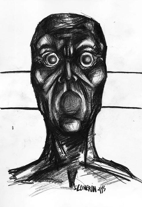 Le silence, dessin d'Alexandre Conversi