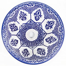 saba blue moroccan sink