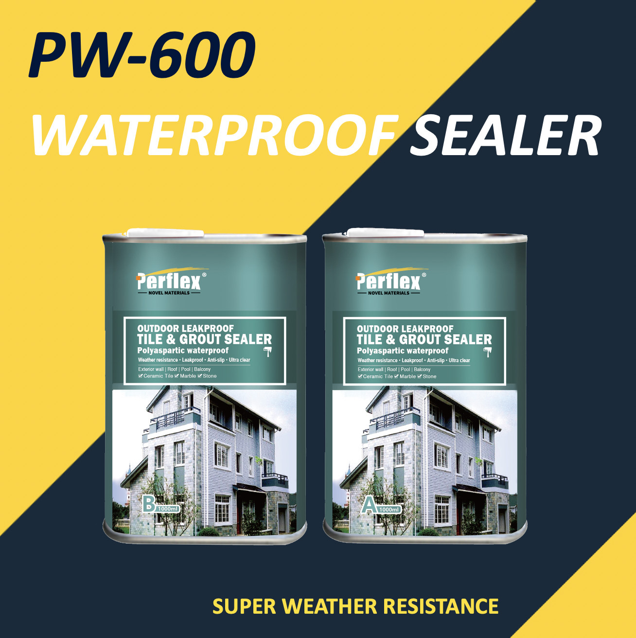 waterproof tile grout sealer membrane