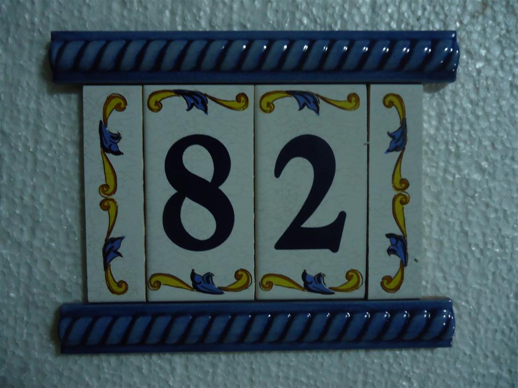 Cermica del Sur Azulejos pintados a mano Rtulos y nmeros