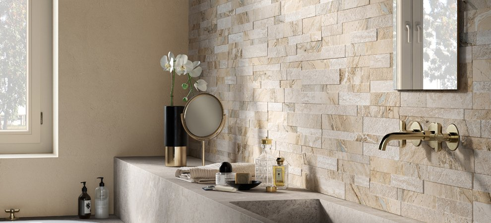 Marble and stone go threedimensional  Ceramica Rondine