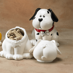 Chip Kitchen Cabinets Wood Gare Bisque Dog Treat Jar | Ceramic Arts