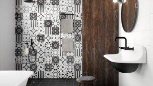 PATCHWORK BLACKWHITE Porcelain Stoneware Tiles