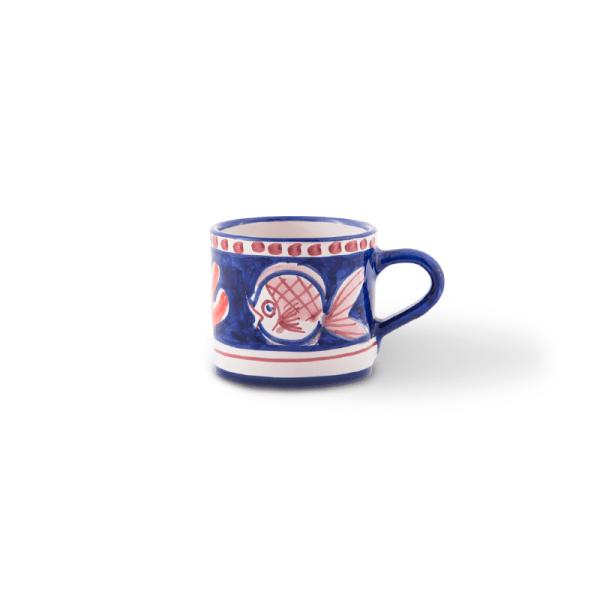 Handmade pottery mini mug| Ceramica Assunta Positano