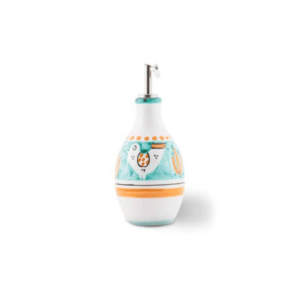 Handmade pottery small oil bottle | Ceramica Assunta Positano
