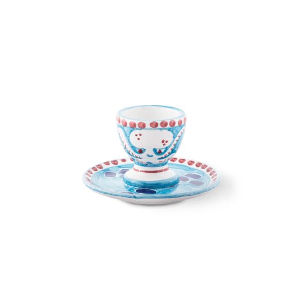Handmade pottery egg cup| Ceramica Assunta Positano