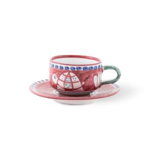 Tazza Thè in ceramica dipinto a mano