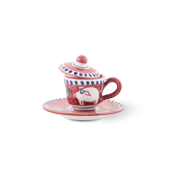 Coffee cup with saucer | Ceramica Assunta Positano