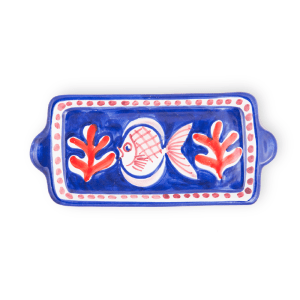 Vassoietto cm 28 in ceramica dipinto a mano