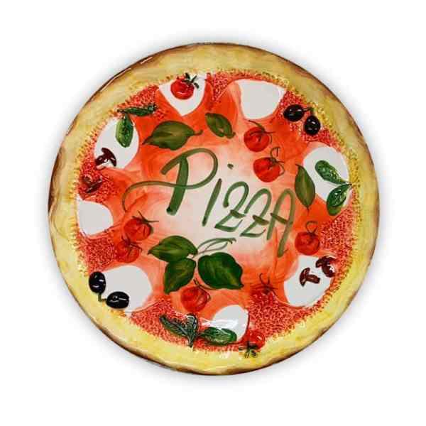 Piatto PIZZA grande in ceramica dipinta a mano   Ceramica Assunta Positano