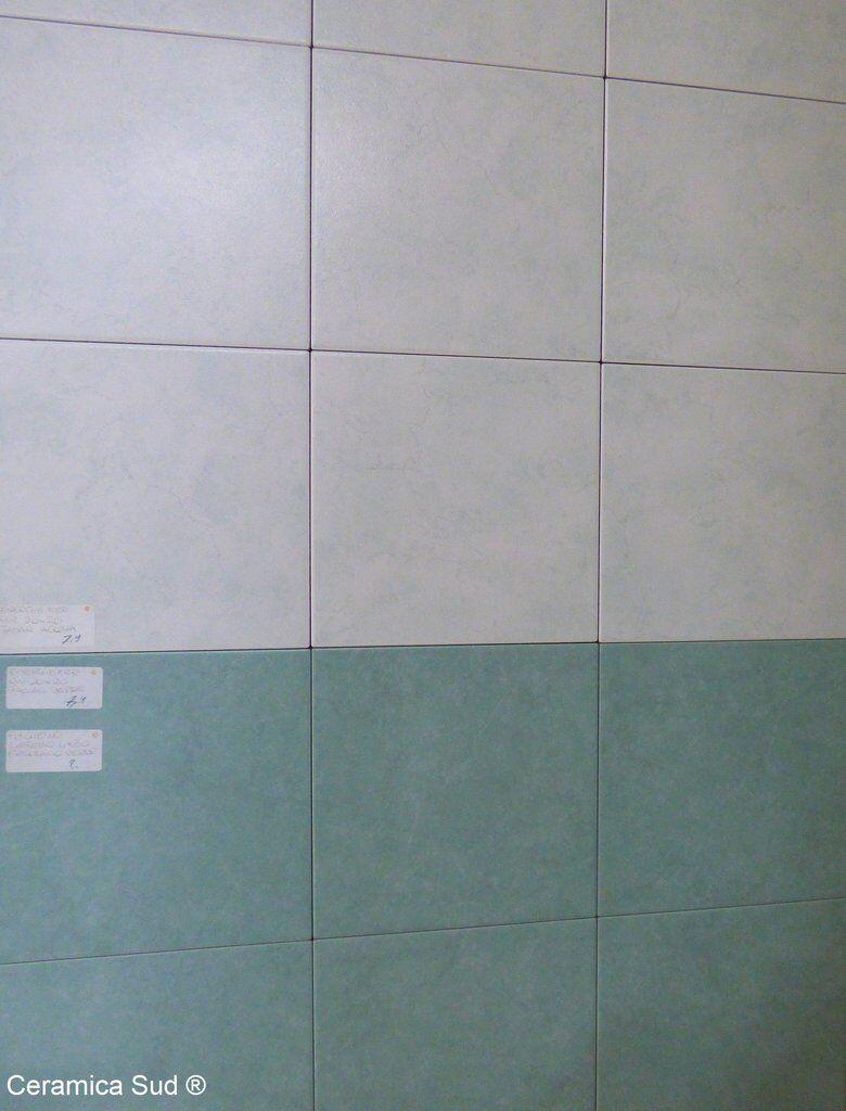 carrelage mural de salle de bain energieker japan vert et beige ivoire 20 x 25 cm