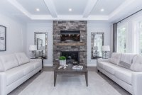 Contemporary Fireplace Accent Wall | Ceramic Decor