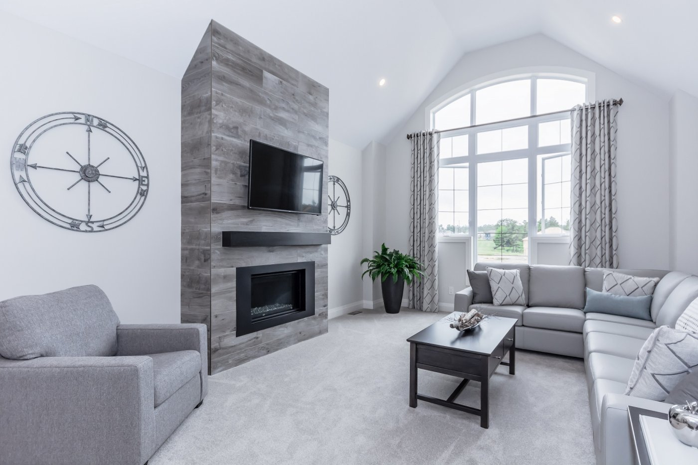 Contemporary Fireplace Accent Wall