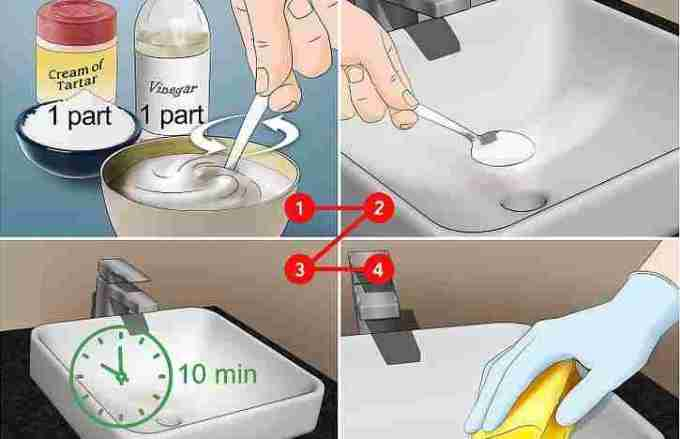Remove stains from ceramics