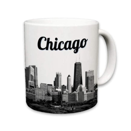 Sweet Gisele Chicago ceramic coffee mug
