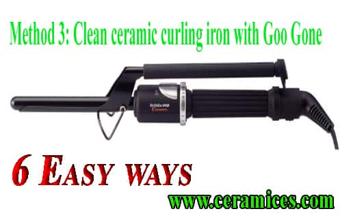 Clean-ceramic-curling-iron-with-Goo-Gone