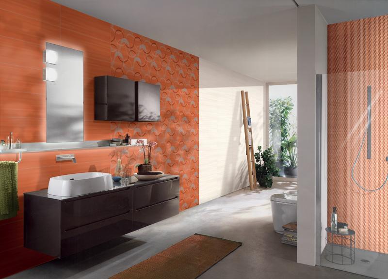 free wake up ceramiche addeo piastrelle bagno arancione with bagno arancione