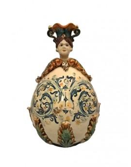 La pigna, simboleggia l'uovo, quindi il principio di vita, è simbolo di prosperità e fortuna. Gufo Ceramica Di Caltagirone Ceramiche Anthos Scicli