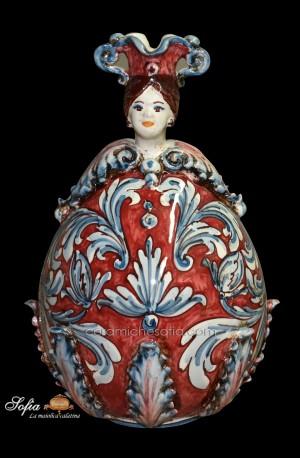 *sarà un dono per *papa francesco*. Art 13 Obx051a Uova In Ceramica Di Caltagirone Ceramiche Sofia
