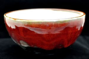 copper-red cereal bowl