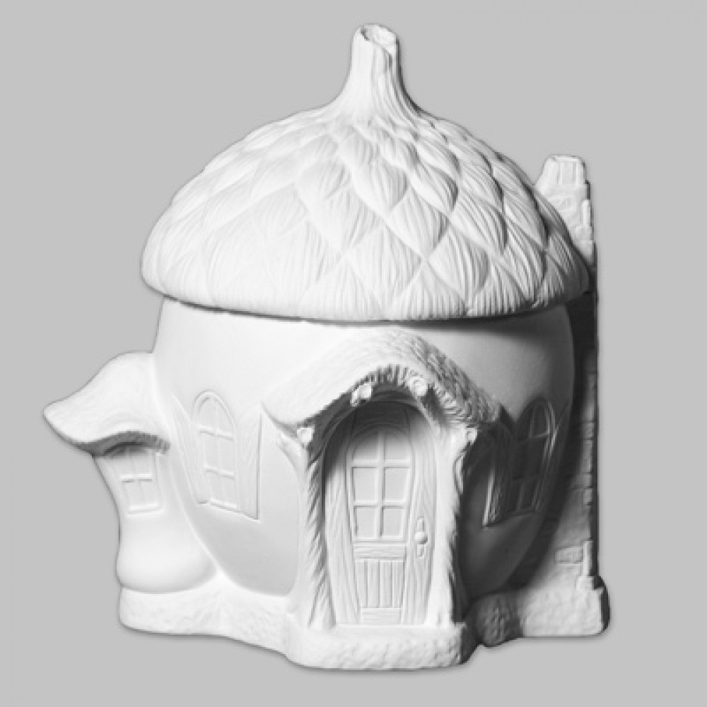 Ready To Paint Ceramic Bisque Acorn Cottage
