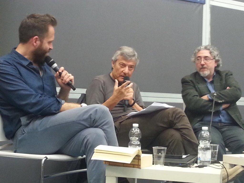 Alessandro Mari, Ottavio Fatica e Roberto Arduini al Salone del Libro 2018 - Foto di Andrea Tramontana