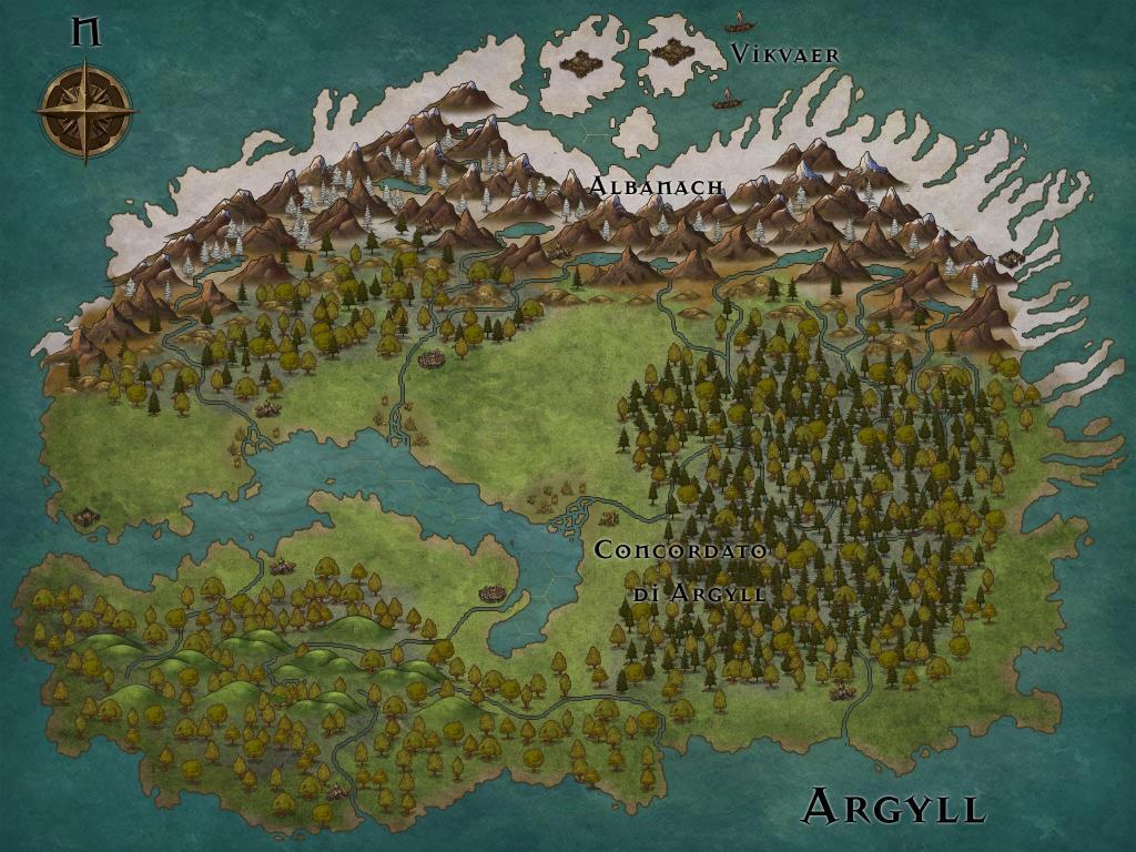 Argyll, la selvaggia isola delle foreste, abitata da Druidi, dai Fir Bolg e dai Vikvær