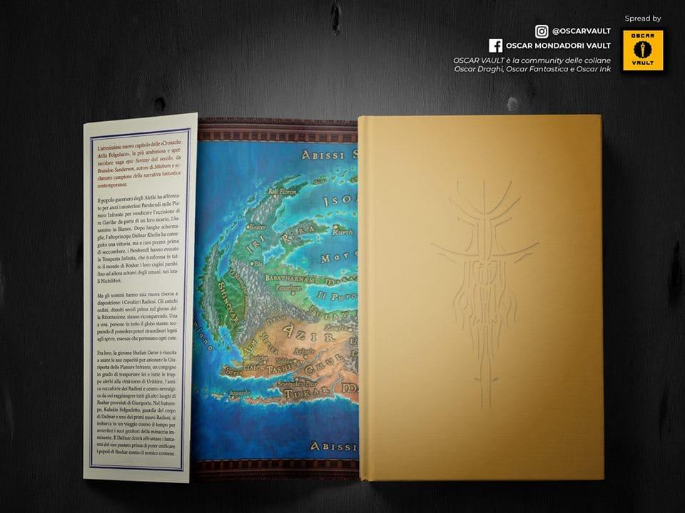 Foto della copertina di Giuramento, comprensivo di mappa interna a colori. Fonte