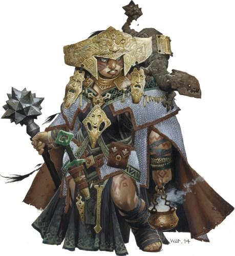La Sciamana Shardra, canonicamente trans. Illustrazione del solo e unico Wayne Reynolds