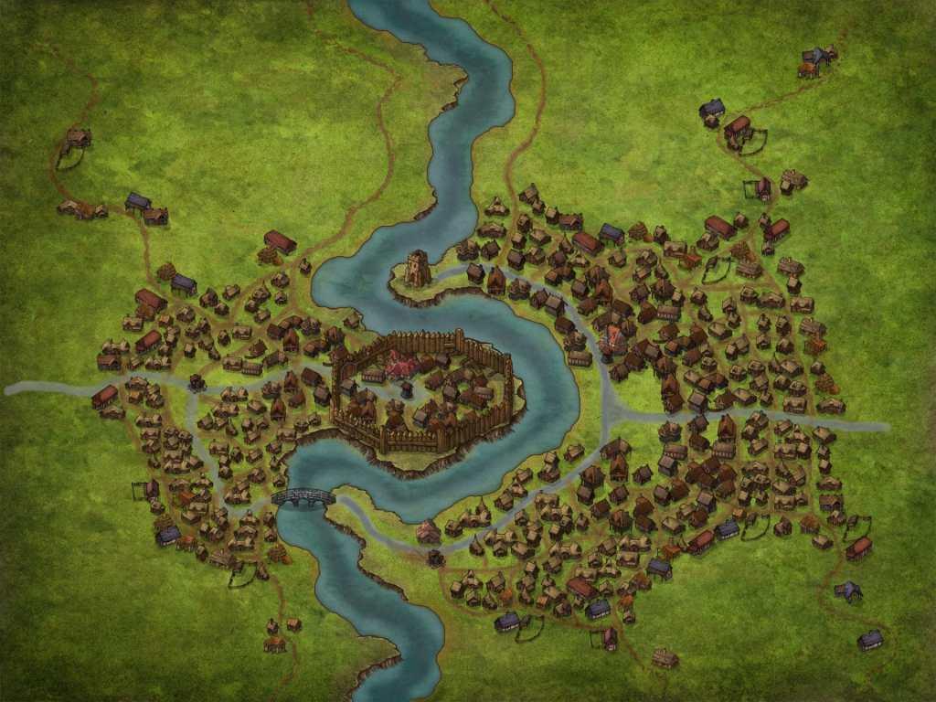 Il nostro villaggio con le sue fattorie!