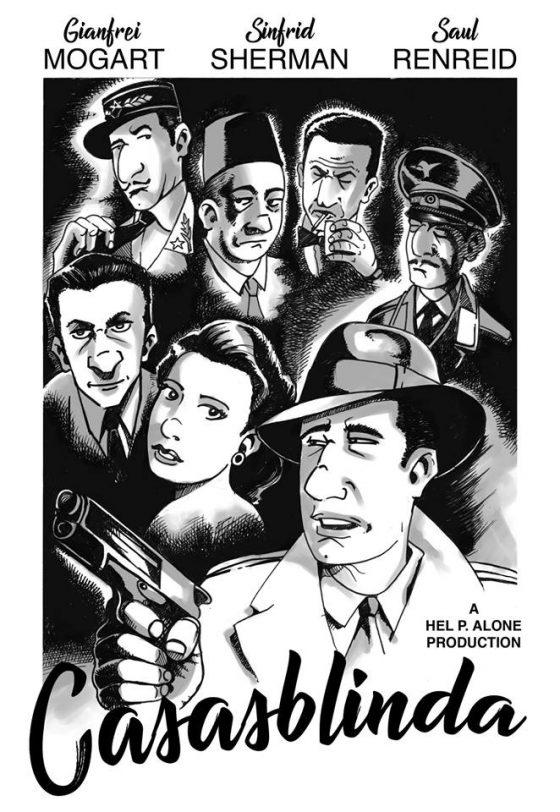 Parodia/omaggio alla locandina del film Casablanca
