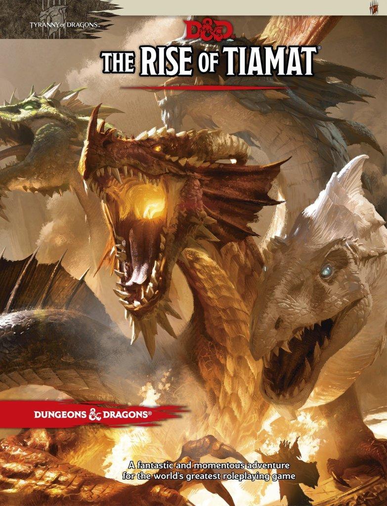 La copertina del secondo AP di Tyranny of Dragons, Rise of Tiamat.