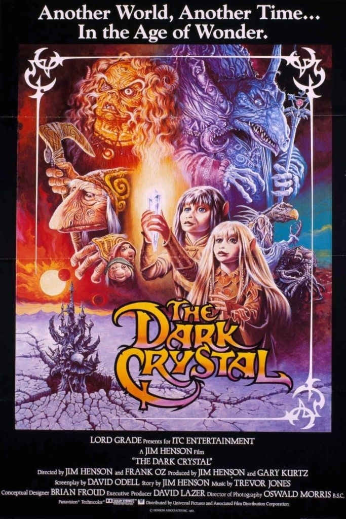 "Poster originale del film di Jim Henson ""The Dark Crystal"" del 1982"