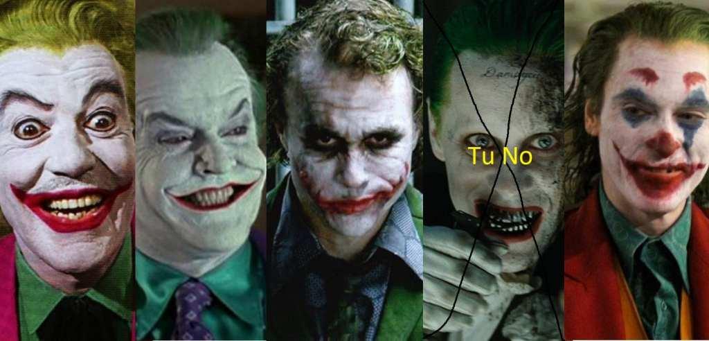 Alcuni Joker del grande e piccolo schermo