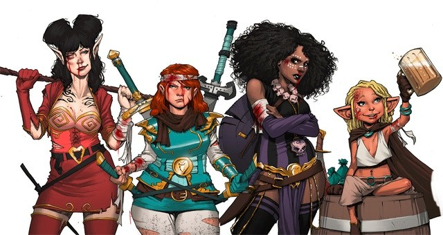 Un party di sole donne, dal fumetto fantasy Rat Queens