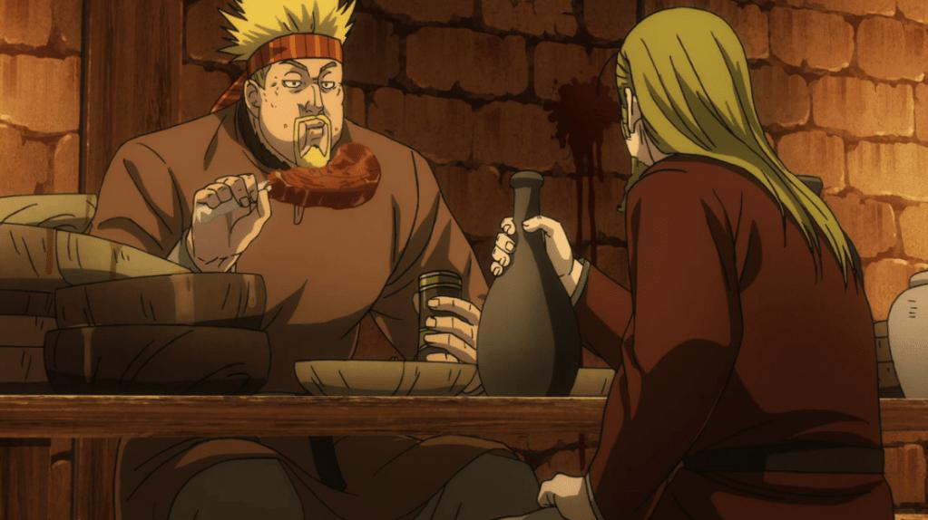 Un Thorkell depresso in Vinland Saga Episodio 15