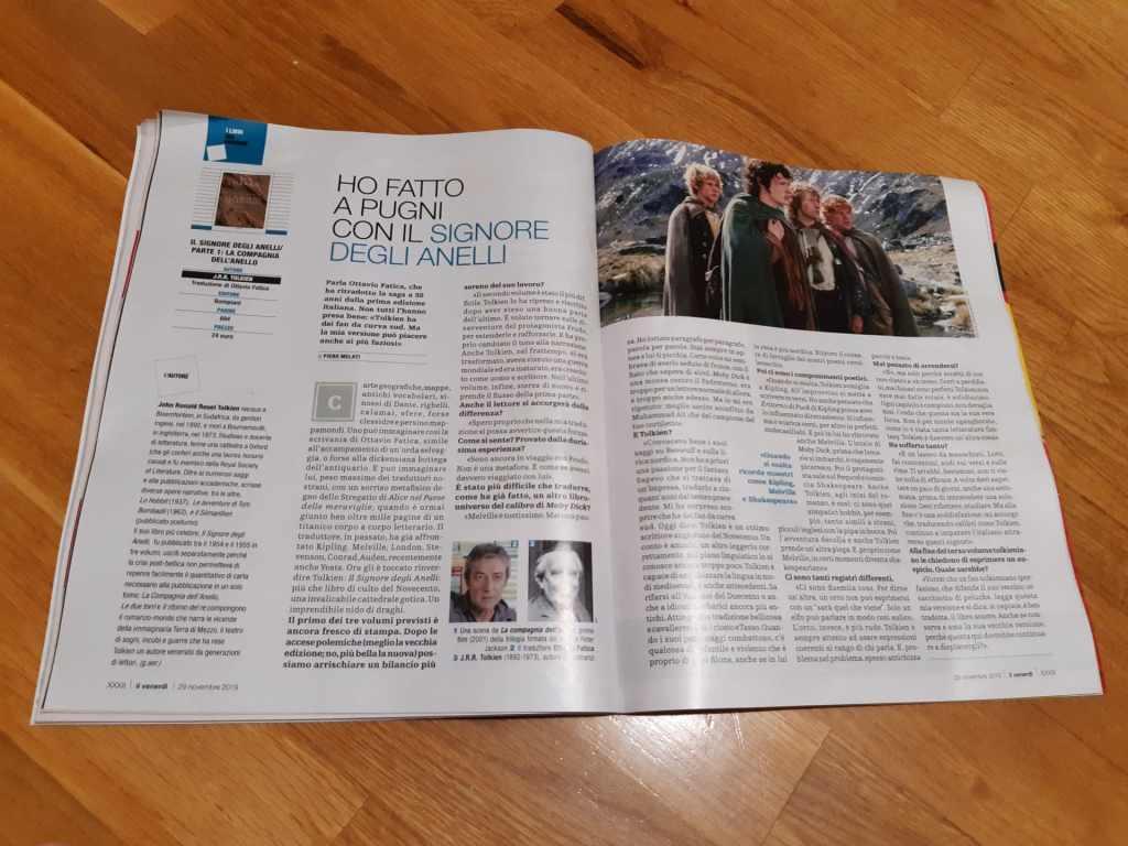 Foto all'intervista ad Ottavio Fatica su Venerdì di Repubblica