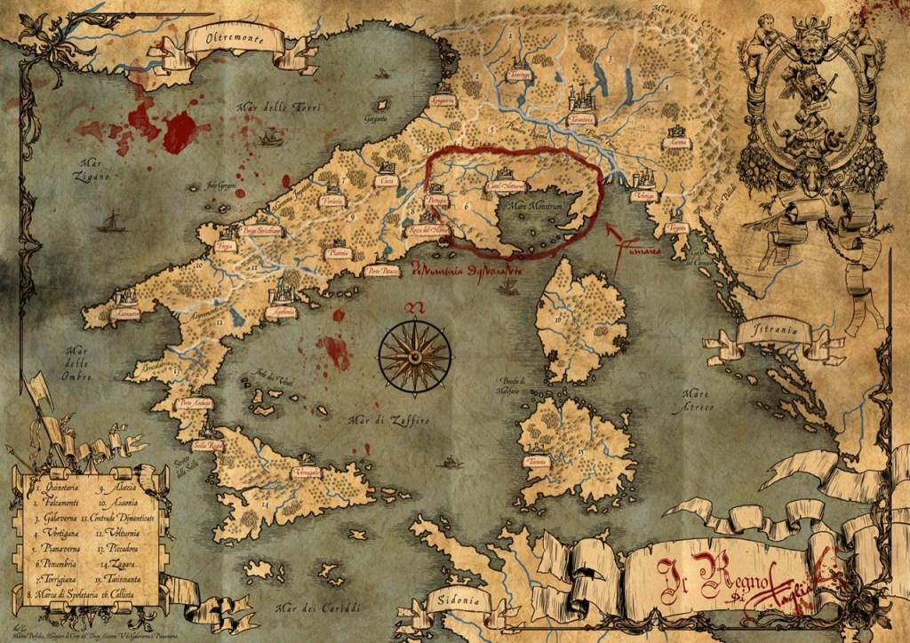 Mappa del Regno di Taglia direttamente da Brancalonia