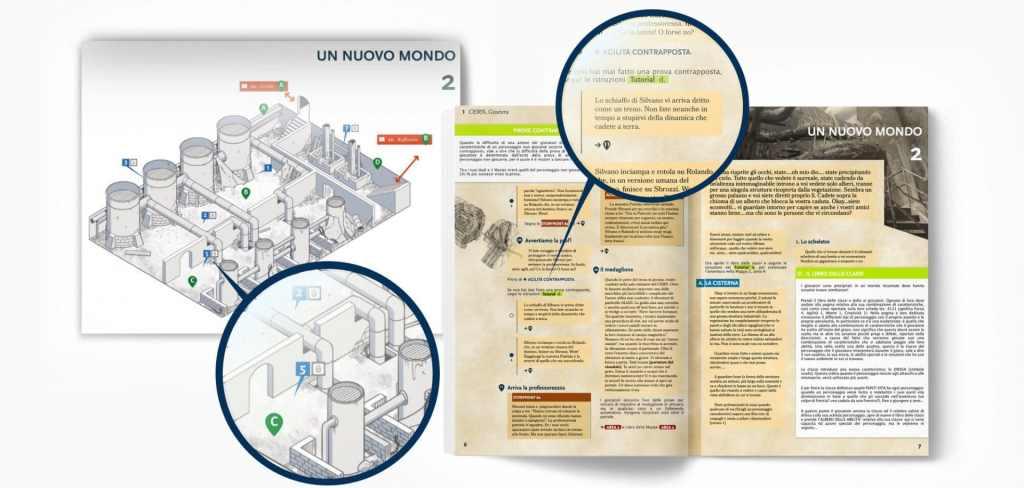 Un esempio della struttura del Libro degli Eventi, supportato dalle immagini del Libro delle Mappe