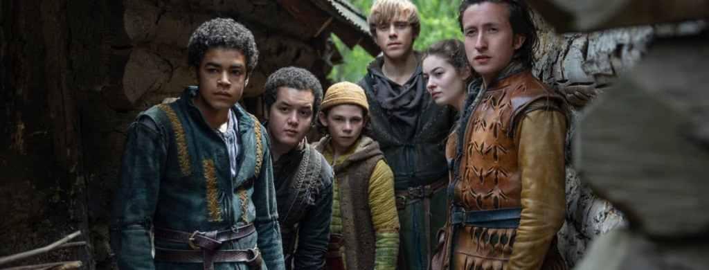 I personaggi principali di Lettera al Re. Da sinistra: Tiuri, Arman, fratellino di Jussipo di cui non ricordo il nome, Foldo, Lavinia e Jussipo