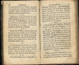 Coutumes Générales des Pays Duché de Luxembourg pages 10 - 11
