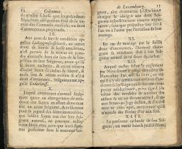 Coutumes Générales des Pays Duché de Luxembourg pages 12 - 13