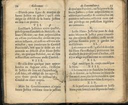 Coutumes Générales des Pays Duché de Luxembourg pages 34 - 35