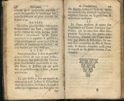Coutumes Générales des Pays Duché de Luxembourg pages 48 - 49