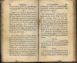 Coutumes Générales des Pays Duché de Luxembourg pages 68 - 69
